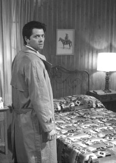 Castiel, oh you bet I would knock you right down on that bed.