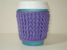 Cup Cozy for TakeOut Cup Purple  Buy 2 Get 1 Free by tonebelle, $4.00