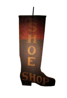 Reproduction 19th century Shoe Shop sign, on aged new wood.