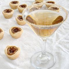 I'm pretty sure there's not enough pecan pie in the world, never mind bourbon pecan pie. The flaky crust, the gooey filling, the flavor, the pecans... Oh, delicious pecans, we need more of you! In tribute of this classic Southern dessert, I'd like to present the Bourbon Pecan Pie Martini that's sweet and rich and nutty. Kind of like life, right?