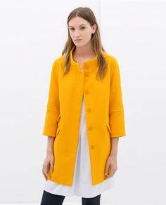 Bilde 2 fra PIQUE COAT fra Zara