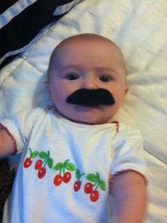 Baby mustache. Make a difference! Be sure to visit and LIKE our Facebook page at https://www.facebook.com/drmurraymovember
