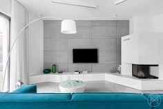 Minimalist Home Uses Aqua to Accent Angles - http://freshome.com/minimalist-home-uses-aqua-to-accent-angles/