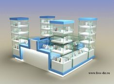 Mobile Kiosk, Cell Phone Store, Darry, General Store, Store Fronts, Display Shelves, Receptions, Interior Design, My Favorite Things
