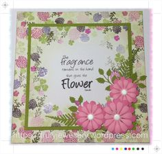 Crafty Projects, Projects To Try, Cardio Cards, Card Io, Ink Pads, Flower Cards, Birthday Cards, Card Making, Tapestry