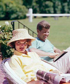 Jacqueline Kennedy & John F. Kennedy at Hyannis Port, 1959