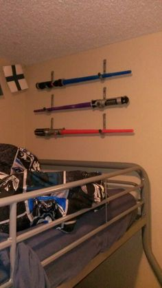 Everbilt handy hooks Light saber holders star wars bedroom sold at home depot