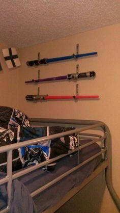Everbilt handy hooks Light saber holders star wars bedroom sold at home depot