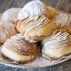 Authentic Italian Sfogliatelle Recipe - Authentic Italian Sfogliatelle traditional European sweet baking pastry recipe Best Picture For wh - Italian Cookie Recipes, Italian Cookies, Pastry Recipes, Dessert Recipes, Cooking Recipes, Italian Cake, Italian Foods, Italian Cupcakes, Cooking Games