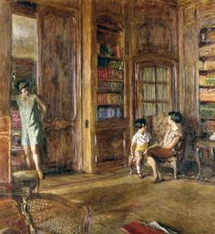 Edouard Vuillard, Dans la bibliothèque, 1925