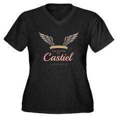 SUPERNATURAL Womens Plus Size V-Neck Dark T-Shirt on CafePress.com