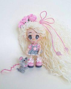 "189 Likes, 5 Comments - Людмила (@milka_dols) on Instagram: ""Манюнечка уже давно дома обожаю её #амигуруми #gurumigram #gurumidoll #bm_knitting #bm_dolls…"""
