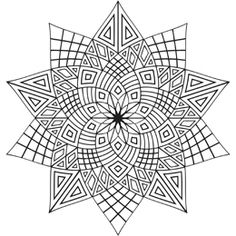 Oooh, geometric coloring patterns - I had a book of these when I was a kid.  Loved them then and still do!!!  Now what did I do with my colored pencils...