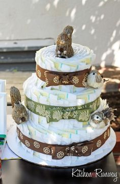 cake ider for beer for dirpers party | One of the other girls make the diaper cake (Yay for Sally) and I ...