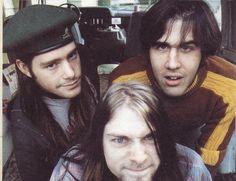 Kurt cobain, chad channing y krist novoselic en Aberdeen. Octubre de 1988