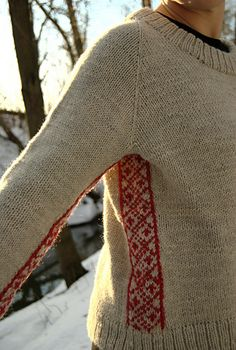 Ravelry: Pirta Sweater pattern by Pia Kuivalainen Fair Isle Knitting, Hand Knitting, Knitting Patterns, Sweater Patterns, Stitch Patterns, Aran Weight Yarn, How To Purl Knit, Ravelry, Knitting Projects