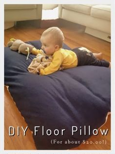 No Sew Floor Pillow | Reading tent, Floor pillows and Tents