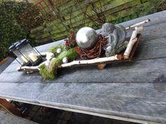 Kerstsfeer op mijn tuintafel