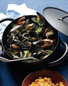 Serve the mussels with a grilled baguette for sopping up the broth. This dish is excellent right off the stove or at room temperature.