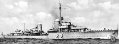 German destroyer Z6 Type 1934A-classTheodor Riedel built for the Kriegsmarine during the mid-1930's.