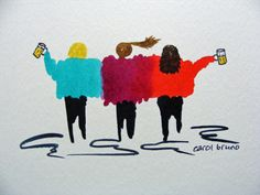 I just listed Beers with the Buds-The Girlfriends-Original Watercolor Painting of Women on The CraftStar @TheCraftStar #uniquegifts