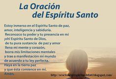 oraciones del espiritu santo de sanacion - Buscar con Google