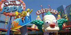 Un parc d'attractions pour la famille Simpsons !