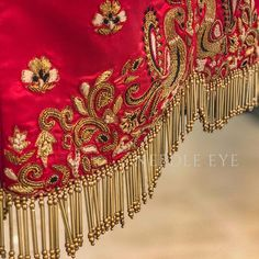 The magical glass sequence work done on a little clients lehenga top Simple Blouse Designs, Silk Saree Blouse Designs, Saree Blouse Patterns, Designer Blouse Patterns, Blouse Neck Designs, Sari Blouse, Blouse Styles, Saree Kuchu Designs, Wedding Saree Blouse Designs