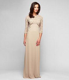 Alex Evenings Sequined-Lace Jacket Dress