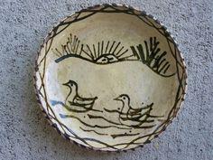Tzintzuntzan Vintage 1940s Small Dish Ducks with Sunrise Mexico   eBay $12.95