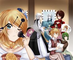 Back Stage Vocaloid prepared for Servant of Evil ~. Hatsune Miku, Kaito, Vocaloid Funny, Servant Of Evil, Kagamine Rin And Len, Miku Cosplay, Mikuo, Wife And Kids, Best Waifu