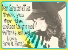 <3 Sara Bareilles, Chat Board, Just The Way, Current Events, Theater, Love Her, Singer, Theatres, Singers
