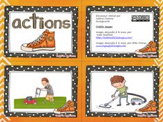 La classe de Madame Valérie: Atelier d'écriture ACTIONS Teaching French, Teaching Writing, Communication Orale, Education And Literacy, French Classroom, French Resources, French Immersion, Emergent Readers, France