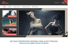 JSN Glamo - #free Joomla template focused on stylish,feminine & #modern design. Clean layout. For #fashion websites.