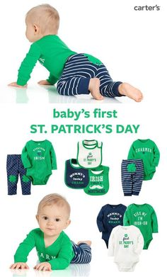 Shop Baby's First St. Patrick's Day styles. Crafted with cute clovers and lots of luck!