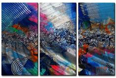 'Chicago Jazz 2' by Skye Taylor 3 Piece Painting Print Plaque Set