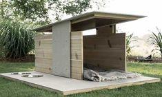 Casa de perros moderna para exteriores • By Pyramid design and co.