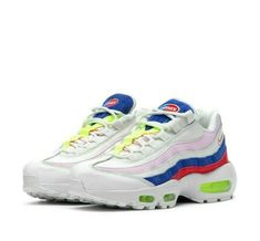sports shoes a54f9 974e0 Nike Air Max 95 SE Panache Womens Running Shoes 10 Sail Arctic Pink Racer  Blue