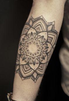 lotus blackwork tattoos