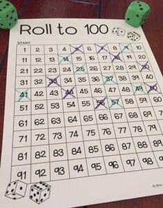 Roll to 100! FREE, no prep game up on the blog, with three different ways to play this game!