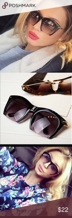 Black rimless bottom sunglasses Brand new! Popular style sunglasses. Bottom side is rimless. ❌trade 🛍bundle discount ✍make an offer❣ Accessories Sunglasses