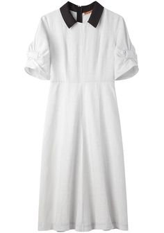 United Bamboo ribbon dress with collar - that contrast collar is everything!