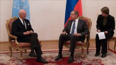 Lavrov's Talks With De Mistura In Moscow