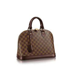 Alma PM Damier Ebene Canvas The most structured of the iconic Louis Vuitton handbags. The original was the creation of Gaston Vuitton, who n. Louis Vuitton Alma Pm, Louis Vuitton Handbags, Louis Vuitton Speedy Bag, Vuitton Bag, Authentic Louis Vuitton, Chanel, Canvas Handbags, Paris Neighborhoods, Designer Purses