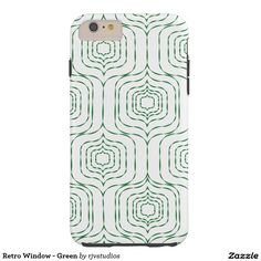 Retro Window - Green Tough iPhone 6 Plus Case