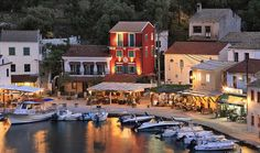 Loggos village in Paxos Island ~ Ionian Sea Great Places, Places To Go, Beautiful Places, Paxos Greece, Paxos Island, Greece Holiday, Villa, Greece Islands, Greece Travel
