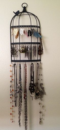 How to store jewelry as wall art.