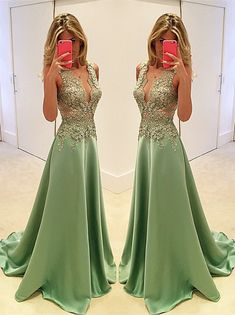 Gorgeous Sleeveless Appliques Evening Dress 2016 Long Floor Length_High Quality Wedding Dresses, Quinceanera Dresses, Short Homecoming Dresses, Mother Of The Bride Dresses - Buy Cheap - China Wholesale - 27DRESS.COM