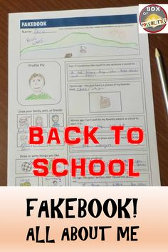 Back to school all about me activity. Facebook get to know me activity. Your students will love filling out this fakebook profile and sharing their interests with you.
