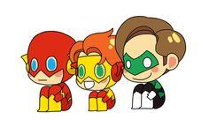 Barry Allen, Wally West and Hal Jordan Traffic Light by dwandwan
